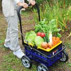 カート 4輪 キャリーワゴン キャリーカート 農作業 園芸 ガーデニング 買い物 折りたたみ 折り畳みカート 折畳み式 カート 収納 コンパクト アウトドア