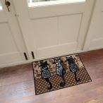 ラグ 洗える 猫 ねこ ネコ 50×75cm ブランド ラグ 玄関 キッチン 階段
