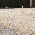 アイアンフェンス ホワイト おしゃれ ガーデニング 外構 庭 自立式 ガーデンフェンス 埋め込み DIY 白 柵 低め 差し込み