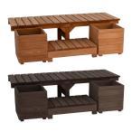 ベンチ プランター セット 屋外 おしゃれ 木製 庭 ガーデニング 縁台 縁側 デッキ 庭先 椅子 軒先 玄関 エントランス 鉢植え