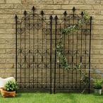 フェンス ゲート DIY ガーデン 柵 枠 アイアン ガーデンフェンス ガーデニング 仕切り 目隠し 境目 ヨーロピアン アンティーク 北欧 中世ヨーロッパ 2枚セット