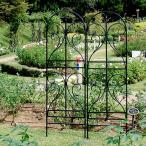 トレリス アイアン バラ フェンス 白 ガーデン ホワイト アーチ ガーデン雑貨 花壇 自立 ガーデンフェンス アイアンフェンス おしゃれ DIY 埋め込み 差し込み