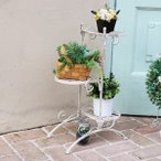 フラワースタンド 花台 ガーデン 屋外 ラック 棚 北欧 カフェ アンティーク 中世ヨーロッパ 姫系