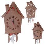 鳩時計 かわいい 木製 壁掛け時計 ハト時計 おしゃれ 振り子 ステップ式 時計