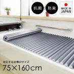 お風呂のふた サイズ ロール 75×160cm用 浴槽蓋 風呂フタ 風呂蓋 シャッター くるくる 防カビ 抗菌 日本製