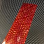 ホログラムシート レッドスクエアーウロコ 5cmx30cm  1枚(粘着性シールタイプ)
