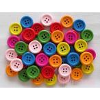 ボタン 木 カラフルウッドボタン 7色50個セット 15mm 4つ穴 usausaのお店 022
