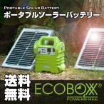 【送料無料】ポータブルソーラバッテリー エコボックス160(ソーラー電池 ソーラー 蓄電池 ソーラー 蓄電機 ソーラー バッテリー ソーラーパネル LEDライト LED