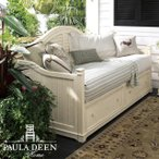 輸入家具アウトレット デイベッド(マットレス別売) Paula Deen アメリカ アンティーク調 カントリー 白 引出し収納付き