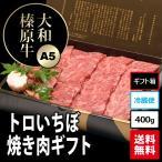 大和榛原牛(黒毛和牛A5等級)の稀少部位とろイチボ焼肉・炙り用 ギフトパッケージ400g!   送料無料