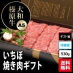 大和榛原牛(黒毛和牛A5等級)のイチボ焼肉・炙り用 ギフトパッケージ530g!  送料無料