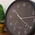 時計 掛け時計 おしゃれ デザイン レトロ 北欧 カフェ 店舗 掛時計 シンプル 温湿度計付 温度計 湿度計