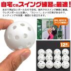 プラスチックボール ゴルフ 12個 ゴルフ練習用プラスチックボール ゴルフボール ボール ゴルフ練習用具 練習用ゴルフボール 練習 アプローチ 室内 素振り
