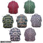 HOUSTON ヒューストン チェックシャツ メンズ チェックシャツ ネルシャツ ワークシャツ 長袖シャツ 40120