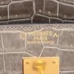 エルメス バーキン40 ポロサス ハンドバッグ トゥルティエールグレーxブラック ゴールド金具 C:2018年 パーソナルオーダー