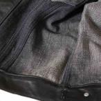 ヨウジヤマモト レザー ジャケット 1 メンズ ブラック SERGE DENIMES