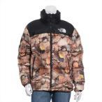 シュプリームxノースフェイス ナイロン ダウンジャケット サイズM メンズ ブラック 16AW ヌプシ カモ リーブス ND516021
