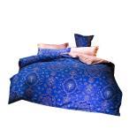ショッピングカバー 布団カバー4点セット 寝具用品 通気性 セミダグル ボックスケース式 ベッド用 掛け布団カバーとボックスケースと枕カバー*2 (セミダブル