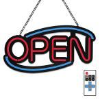 看板 LED ネオン サインボード 店舗用 オープン OPEN 310mm×510mm