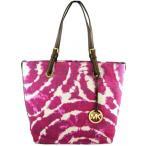 マイケルコース Michael Kors Jet Set Item Grab Bag Canvas with Leather Straps Tote Purse Bag (Lacquer Pink) 輸入品