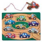 Magnetic Wooden Two Truck 10-Piece Activity Game Board + FREE Melissa & Doug Scratch Art Mini-Pad Bundle [37778] 輸入品