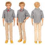 Barwa バービー ケン用 服 7枚セット=ケン用服5枚+2組シューズ バービー人形用 リカちゃん 洋服 手作り はるみくん ケンきせかえ