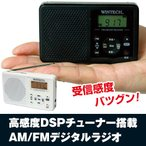高感度DSPチューナー搭載・AM/FMデジタルラジオ