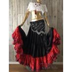 32ヤード ジプシースカート♪超軽い! (32yard Gypsy Skirt - Black/Black/Red/Red/Wine)