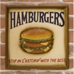 壁掛け ハンバーガー アンティーク ボード レストラン アメリカン バンズ パテ ハワイアン  看板 カフェお店 ルート66 キッチンインテリア