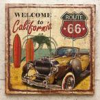 ハワイアン ウェルカムボード ルート66 route66 リゾート サーフィン 看板 壁掛け