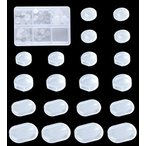 イヤリングカバー 5種類 46個セット シリコン クリップ式 ネジ式 カバー 半透明 目立たない 痛くない 滑り止め ヤリング クリップ 式