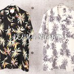 アロハシャツ メンズ オープンカラーシャツ 開襟シャツ 半袖シャツ 幾何学柄 ヨット柄 カクテル柄 リーフ柄 花柄 ボタニカル柄 パイナップル メール便 送料無料