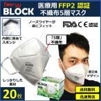 N95 規格相当 高性能 医療用 FFP2マスク 20 枚 送料無料 Everyy