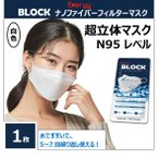 N95レベル 不織布4層 マスク ブロック ナノファイバー FFP2 BLOCK EVERYY NANOFIBER 1枚 医療 飛まつ防止