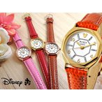 Disney ディズニー ミッキー八角形腕時計 本牛革ベルト スワロフスキー (全4色)