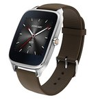 """ASUS Android Wear スマートウォッチ 「ZenWatch 2」1.65"""" WI501Q-SR-BW-Q Silver case with Brown rubbe"""