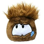 Disney ディズニー Club Penguin クラブペンギン 8 インチ JUMBO Puffle Plush Brown Includes Coin with