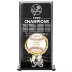 Yahoo!バリューセレクトショップマウントされた思い出ニューヨーク・ヤンキース1978ワールドシリーズシャンゼリゼディスプレイケース。