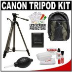 "Canon キャノン 62"" Deluxe Photo/Video 300 Tripod 三脚 with 3-Way Panhead & Canon キャノン 200EG Ba"