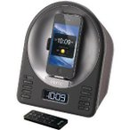 New-IHOME IA63BZ IPHONE(R)/IPOD(R) APP-ENHANCED ALARM CLOCK FM RADIO STEREO SPEAKER SYSTEM WITH MO