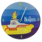 The Beatles Yellow Submarine Glass Wall Clock / ビートルズ イエローサブマリン グラスウォールクロッ