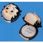 Madame Alexander (マダムアレクサンダー) Collectibles Betty Boop Head Porcelain Box ドール 人形 フ