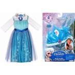 アナと雪の女王 エルサのドレスとティアラとアクセサリー(三点)の5点セット  USサイズ4-6(99-120cm)