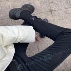 冬季 ジーパン メンズ 厚手 オシャレ 韓国風 カジュアル 9分ズボン ブラック 定番