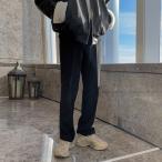 男性用ズボン 冬 ゆるいドレープ感 ワイドパンツ メンズ カジュアル 2色 シンプル