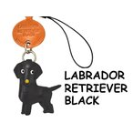 本革携帯 犬ストラップ ラブラドールレトリバー ブラ