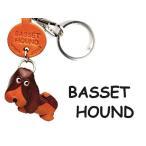 バセットハウンド/犬キーホルダー/バンカクラフト 革物語/VANCA CRAFT/レザー/手作り/雑貨/革小物/ドッグ/わんこ/名入れ可