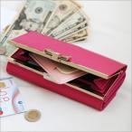 [ROXY牛革長財布]レディース 本革 おしゃれ リボン プレゼント かわいい 可愛い カード入れ 雑貨 人気 女性 通販 ギフト ウォレット 宅急便送料無料