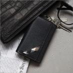 キーケース キーホルダー 本革 メンズ OMNIA Homean cowhide key holder 札入れ付き 天然牛革 おしゃれ 宅急便