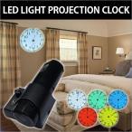 LED電球を使って壁面に投射するプロジェクター時計です。